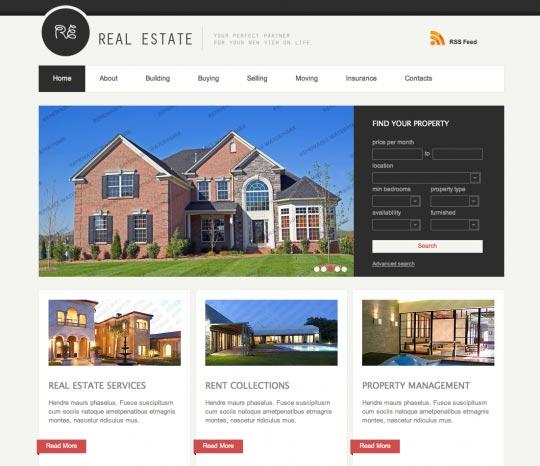 pagina web para inmobiliarias, sencilla y adaptativa